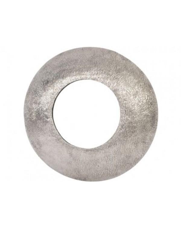 Libra Brushed Sliver Aluminium Round Convex Mirror